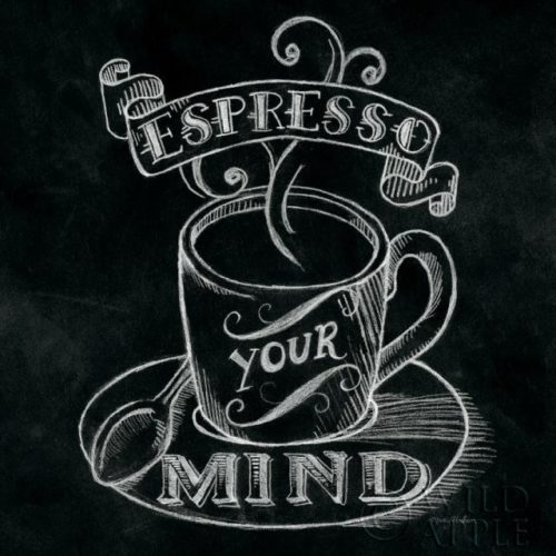 Espresso Your Mind No Border Square by Mary Urban