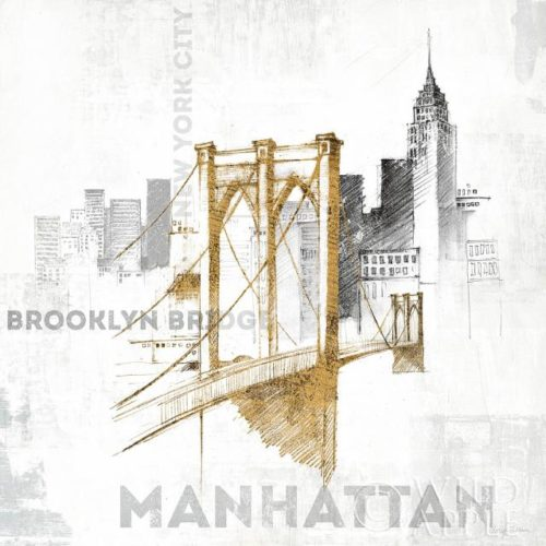 Brooklyn Bridge by Avery Tillmon published by Wild Apple Graphics