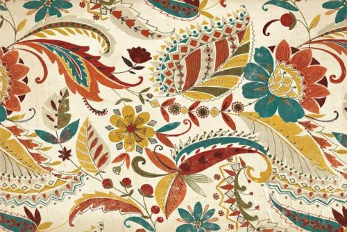 Boho Paisley Spice III by Wild Apple Graphics