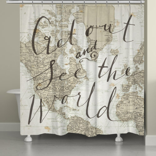 Get Out and See the World by Sara Zeive Miller - shower curtain