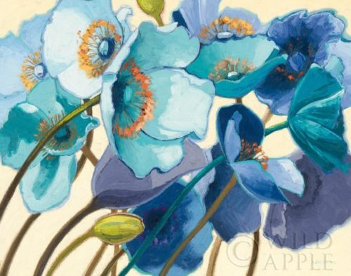 Le Pavots Bleu Wall Art by Shirley Novak