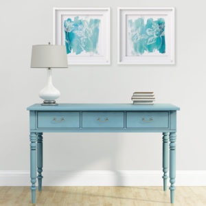 Blues and Greens home decor