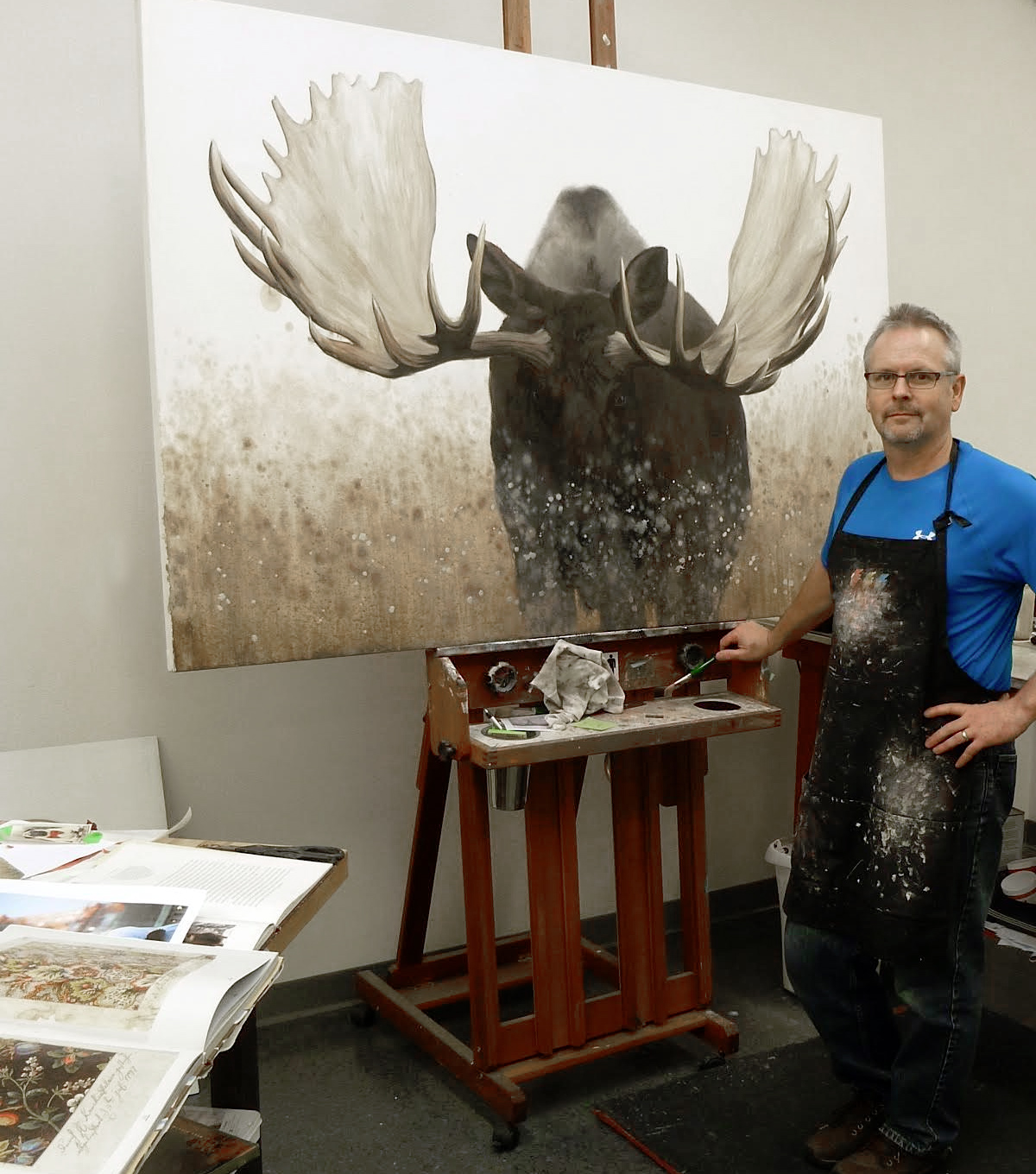 James Wiens in his studio