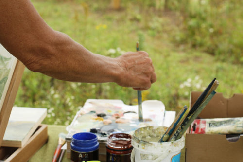 Julia mixing paints