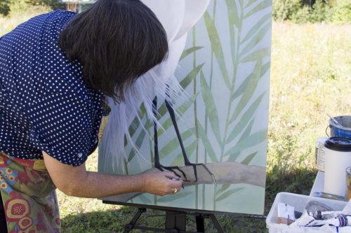 Kathrine Lovell painting at VINS
