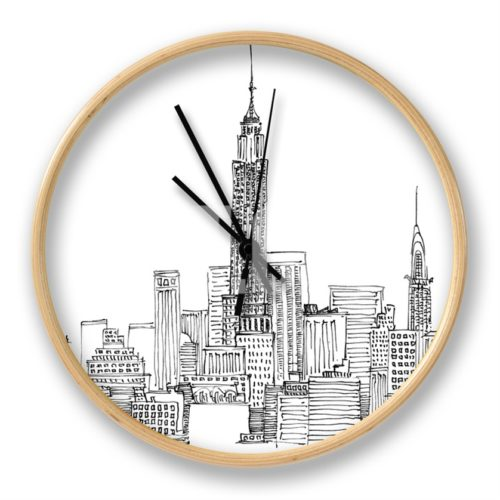 New York Skyline Crop Clock from Art.com