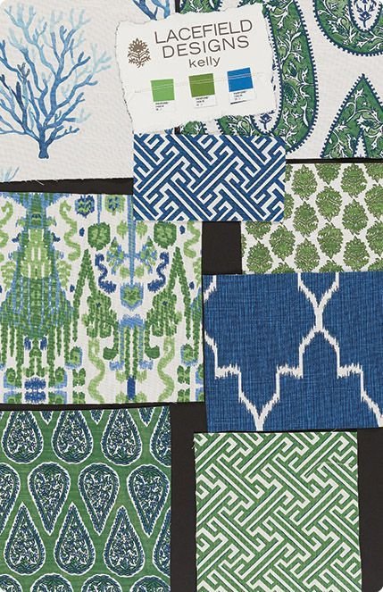 Blue and greens from Enchanted Home