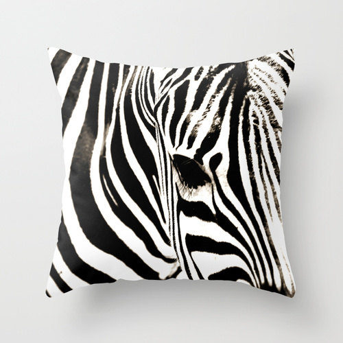Zebra Pillow Cover from Yars Photography