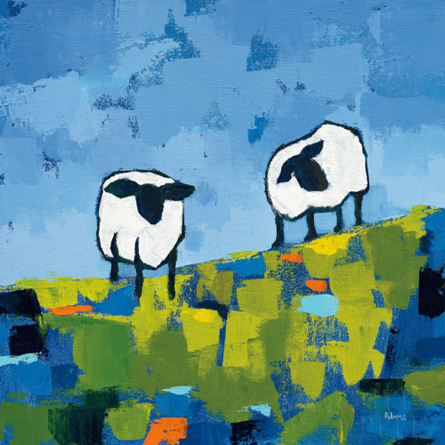 27253 Two Sheep by Phyllis Adams
