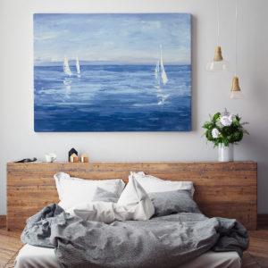 Blue Art Open Sail by Julia Purinton
