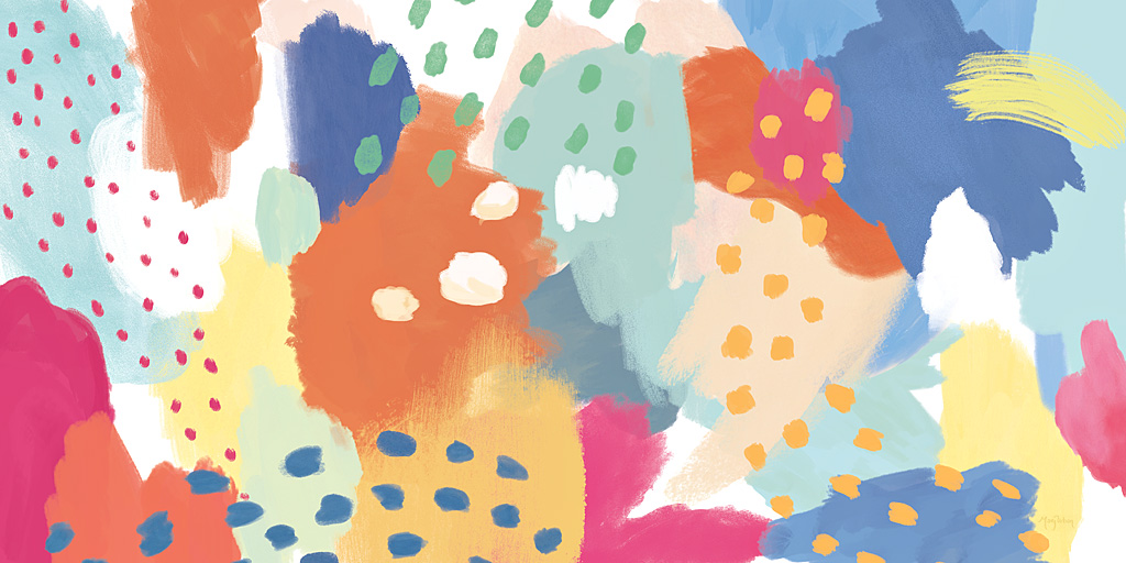 Brightly colored abstract art prints