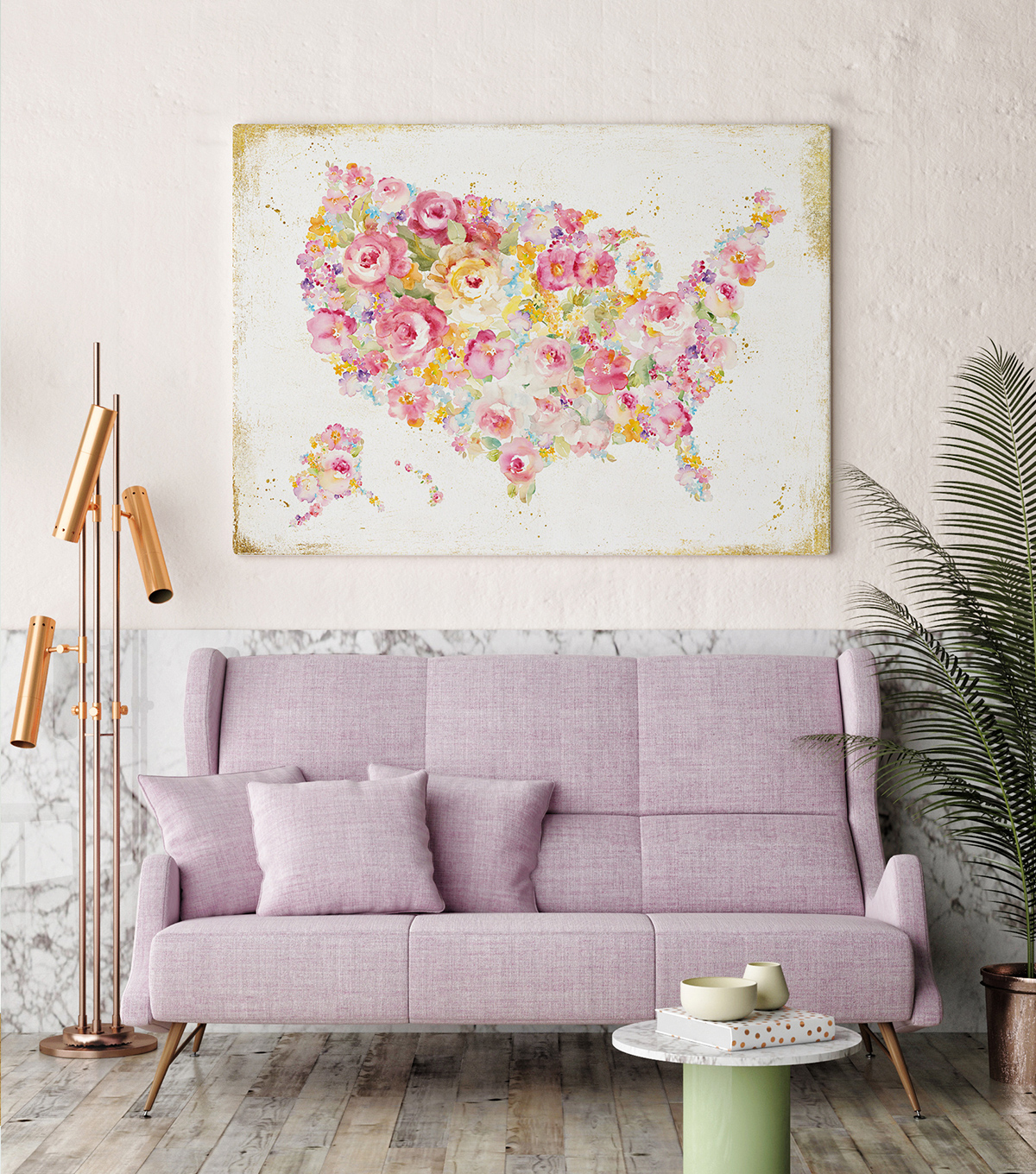 Millennial Pink Art and Decor