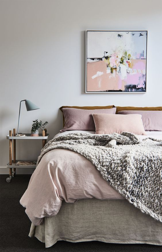 Soft Pink Bedroom - Wild Apple