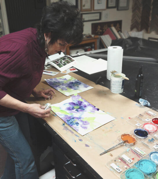 Chris Paschke working in the studio