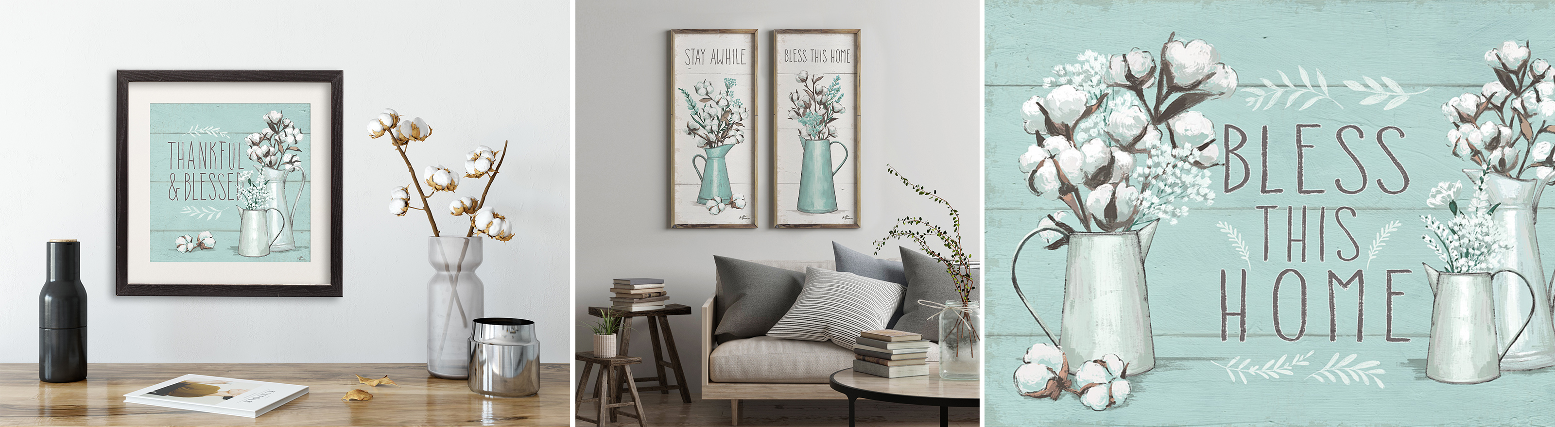 Mint Colored Art for the Home