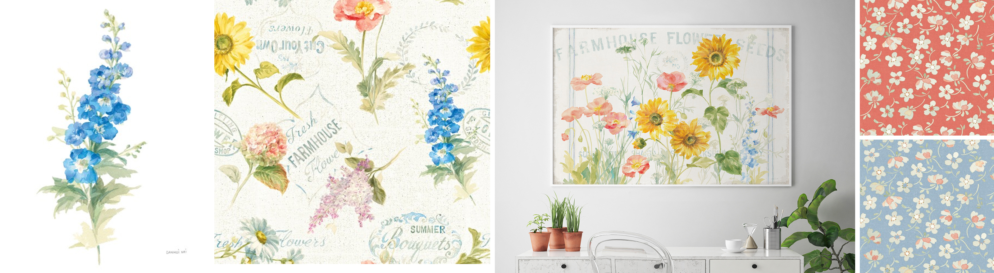 Spring Inspired Art and Patterns