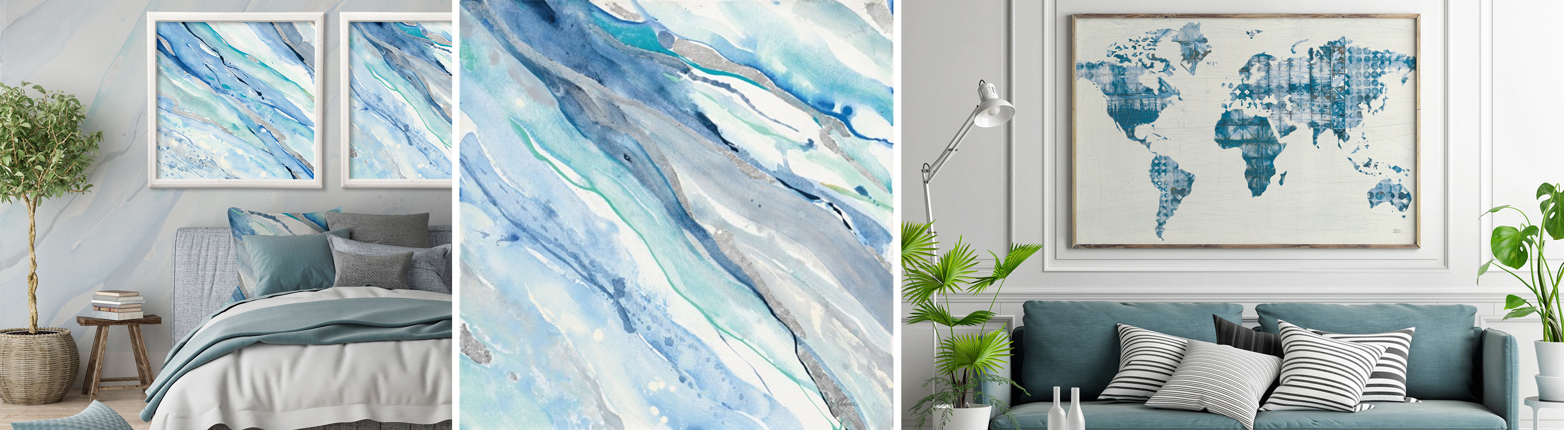 Blue Art for the home