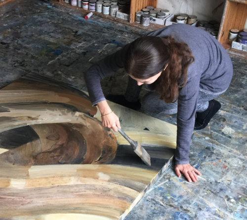 Albena Hristova in her studio